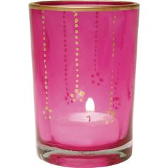 d547af974fdc Cultural Intrigue Fuchsia Pink Gilded Glass Candles Holders (vertical...  ( 4.25)