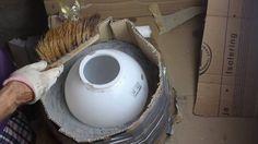 Selbst hergestellte Form zum Gießen von Dekokugeln und - schalen #DIY#