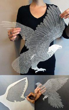 Resultado de imagen de cut out canvas pattern