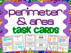 Perimeter and Area Task Cards for Differentiated Instruction! A set of 48 engaging task cards for your students to practice their skills of finding perimeter and area, then putting it all together to compare the two. Included are:  20 Perimeter Task Cards 20 Area Task Cards 8 Challenge Area & Perimeter Task Cards Answer Key & Recording Sheet Included $