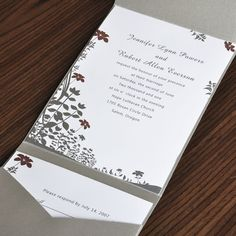 pocketfold wedding invitations-  You will be pretty happy with your invitations. These invitations are incredibly affordable, as the raw materials may be offered. Calligrapped invitat...