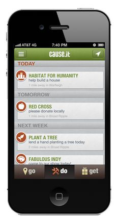 [mobile app] Cause.it allows you to make an impact in your community anytime. Volunteer, advocate for, and support the causes that matter most to you.
