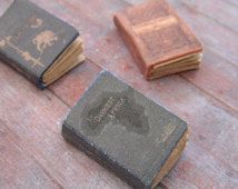 Miniature Dusty Old Books