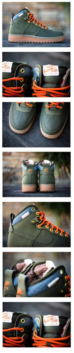 Nike Air Force 1 Duckboot: Dark Loden Recommended by http://www.fishinglondon.co.uk/ Fishing in London