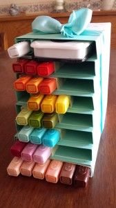 Blendabilities Storage Box - make your own.  Created by Bev Adams - PDF with full directions is linked in the post.