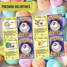 Pokemon Kids Valentine Card Valentine& Day Card Kid by Dadparties Pokemon Valentine Cards, Valentine Day Cards, Be My Valentine, Valentine's Cards For Kids, Your Cards, Valentine Crafts For Kids, Valentine Ideas, Pokemon Birthday, 8th Birthday