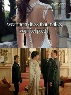 Wearing a dress that makes you feel pretty :'3