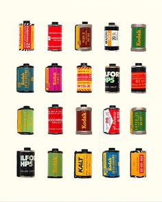 Shooting Film: Vintage Film Canisters Print