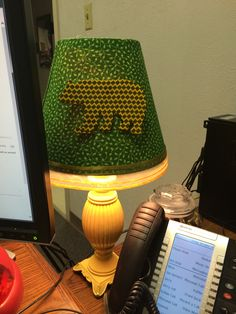 "I put this lamp together for my office, it needed a little #Baylor ""light."" // #SicEm"
