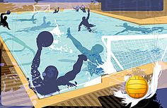 Indoor water polo, Indoor Sport, Water Polo, Atleta, Imagen de fondo