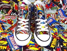 Custom Marvel Converse.   Community Post: 25 Geeky Gifts Every Marvel Fan Needs