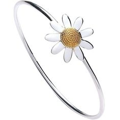 Daisy Jewellery Silver Gold Plated 20mm Daisy Bangle BR6015G-P  £125.00