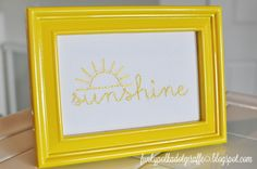 Funky Polkadot Giraffe: Framed Sunshine Embroidery