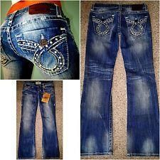 NEW - BUCKLE BIG STAR VINTAGE COLLECTION LIV BOOTCUT STRETCH BLING JEANS~27R 27 X 31