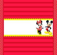 LARGE SET-- Montando a minha festa: Mickey e Minnie