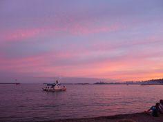 Sunset Grand Marais Harbor on 4th of July