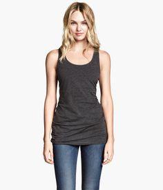 H&M pitkä trikootoppi, koko XS, (vaaleanharmaa, tummanharmaa, musta tai valkoinen) - 4,99€