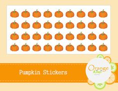 Items similar to Pumpkin Stickers - Halloween Stickers - Thanksgiving Stickers on Etsy Halloween Stickers, Thanksgiving, Pumpkin, Messages, Make It Yourself, Etsy, Gourd, Thanksgiving Tree, Pumpkins