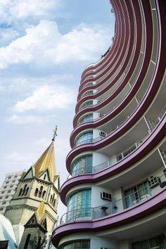 Edifício Germaine Burchard, de 1942, foi o pioneiro no modelo flat em São Paulo (Foto: Milena Leonel/Prédios de São Paulo)