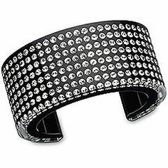 9db6d3d6229f0 Resin Wide Clear Crystal Bangle from the Swarovski Kingdom of Jewels  collection