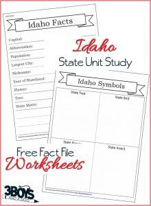 These Idaho State Fact File Worksheets are the perfect free printables to help you and your child record many facts about the state of Idaho. Social Studies Worksheets, Worksheets For Kids, Nevada Facts, Back To School Essentials, Facts For Kids, Idaho, The Unit, Teaching, 50 States