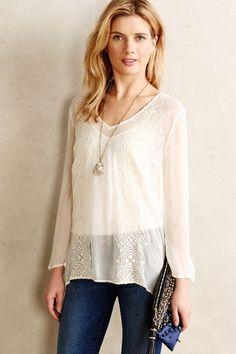 Rajita Embroidered blouse - Anthropologie