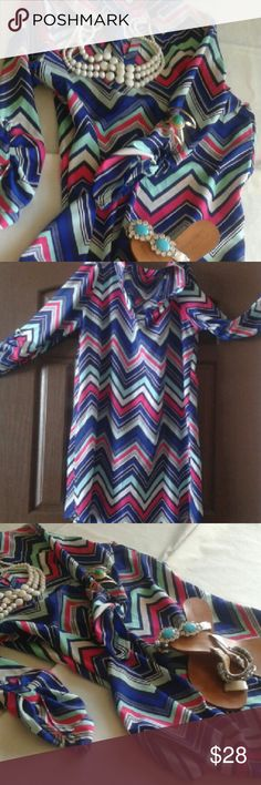 Chevron BRIGHT FUN Dress Belt it or wear it as it...so so cute..I got tons of compliments Tops Blouses