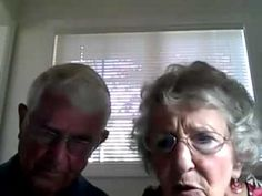 Grandparents trying to use a webcam