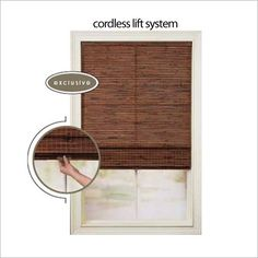 A Cordless lift system gives your window a clean, finished profile and allows the shade to be lifted or lowered with just the touch of a finger. Perfect for homes with small children and pets.