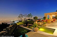 Breath-taking: The property has an infinity pool and stunning view of Los Angeles' Sunset Strip