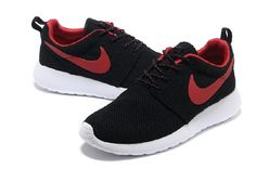 detailed look 04bb0 640bb Cheap Nike Roshe Run Women USA Sale,Nike running Shoes outlet! Nike Roshe  Run Womens Black Red Mesh shoes   -