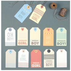 Free printable baby gift tags | Love vs Design