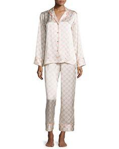 91b6f36f4f Natori Arabesque Geo-Printed Two-Piece Pajama Set
