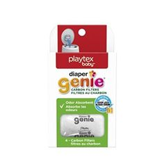 Diaper Genie Playtex Safe Natural Activated Carbon Filter Refill Tray for Diaper Pails Comes with 4 carbon filters