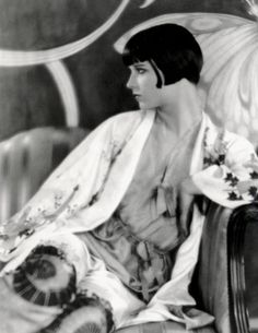 louis brooks, kimono, flapper, 1920's, deco, fashion