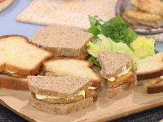 Sándwich de croquetas de papa y jamón crudo