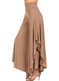 Cheap high waisted pleated pants, Buy Quality wide leg pants directly from China pants femme Suppliers: LASPERAL 2018 Elegant Irregular Ruffles Wide Leg Pants Women High Waist Pleated Pants Femme Casual Loose Streetwear Trousers Loose Pants, Wide Leg Pants, Wide Legs, Fashion Pants, Fashion Dresses, Leggings Fashion, Pants For Women, Clothes For Women, Ladies Pants