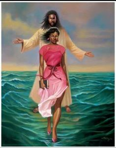 He Walks With Me (African American Jesus) by Sterling Brown Black Love Art, Black Girl Art, My Black Is Beautiful, Art Girl, African American Art, African Art, Black Art Pictures, Black Jesus Pictures, Dove Pictures