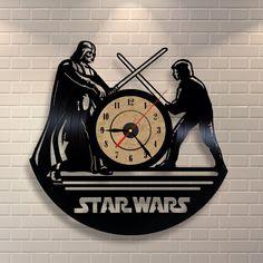 Star Wars gift vinyl wall record clock by Vinylastico on Etsy