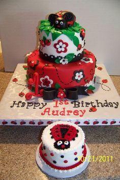 Lady Bug Birthday Cake - Love this one!!!
