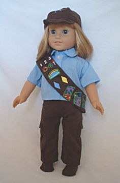 """Brownie Pants Uniform.  This will fit American Girl and most 18"""" Dolls.  $23.99 on my eBay page."""