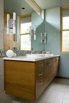 biophilic design, LEED platinum rated, modern comfort, Energy Star, glass tile, recycled materials, IceStone, bathroom