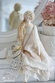 Купить Белль - тильда, кукла ручной работы, кукла интерьерная, кукла текстильная, кукла Тильда ♡