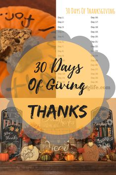 The 30 Days of giving thanks can be done anytime of the year. The free printable will help you get started. Thanksgiving Table Settings, Thanksgiving Traditions, Thanksgiving Parties, Thanksgiving Crafts, Thanksgiving Decorations, New Years Decorations, Fall Decorations, Mothers Day Crafts, For Your Party