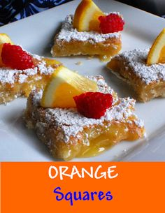 A    Sprinkle    of    This    and    That: Orange Summer Squares