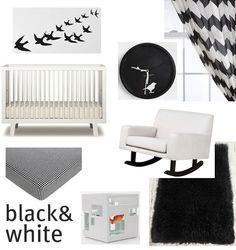 we <3 black & white nurseries!!!