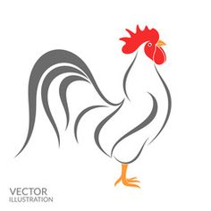 Isolated bird on white background Stencil Art, Stencil Designs, Stencils, Rooster Painting, Rooster Art, Chicken Painting, Chicken Art, Chicken Coop Decor, Chicken Pictures