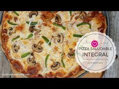 Deliciosa pizza integral, la versión saludable de la pizza, ideal para que los niños coman verduras, deliciosa y muy fácil de hacer en casa.