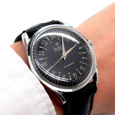 Alpha 17 Jewels Military Rare Collectable Wrist Watch 57 58 17 #Alpha #DressFormal