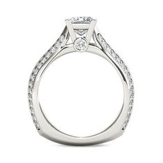 1-3/4 CT. T.W. Princess-Cut Diamond Engagement Ring in 14K White Gold   Engagement Rings   Wedding   Zales